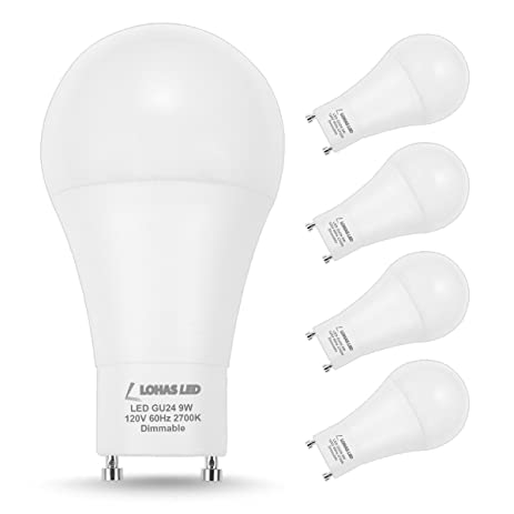 Lohas gu24 bulbs 60 watt dimmable light bulb equivalent9w a19 lohas gu24 bulbs 60 watt dimmable light bulb equivalent9w a19 led aloadofball Images