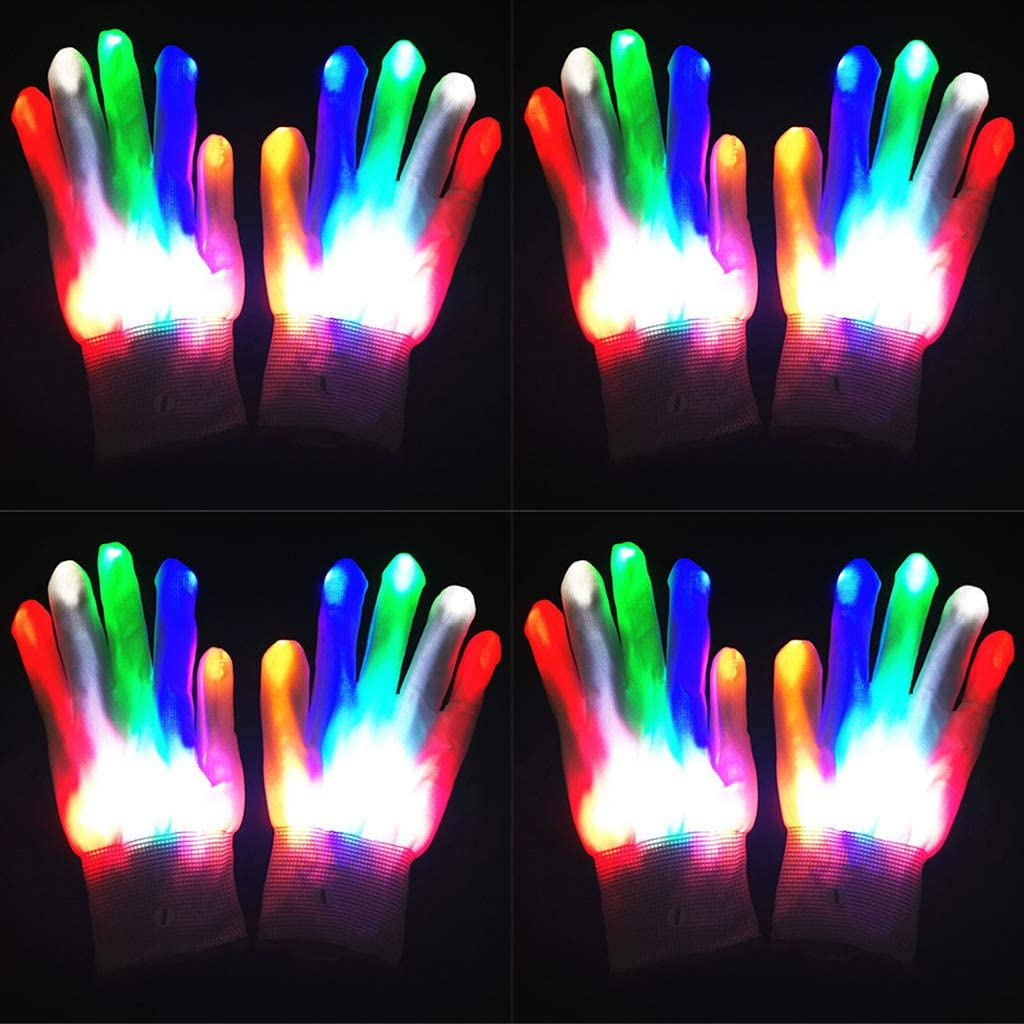 Halloween Horror Party Role-Playing Costume Gloves Accessories UYT Halloween Costumes Flashing and Glowing LED Gloves