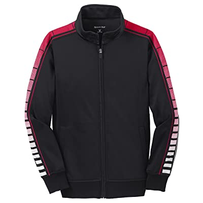 Sport-Tek Boys Dot Sublimation Tricot Track Jacket