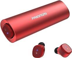 Bluetooth イヤホン 完全 ワイヤレス イヤホン Pasonomi ブルートゥース イヤホン 自動ペアリング 高音質 充電ケース付 自動ON/OFF IPX5防水 マイク付き Bluetooth 5.0 Siri対応 左右分離型 両耳 iPhone Android 対応(ローズレッド)