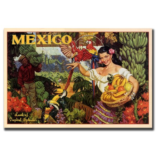 Mexico, 24×32-Inch Canvas Wall Art