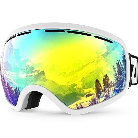 7c458c5b45 ZIONOR X10 Ski Snowboard Snow Goggles OTG for Men   Women Anti-fog UV  Protection