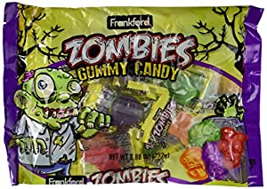 Frankford Zombies Gummy Candy, 8.88 oz Bags in a Gift Box (Pack of 2)