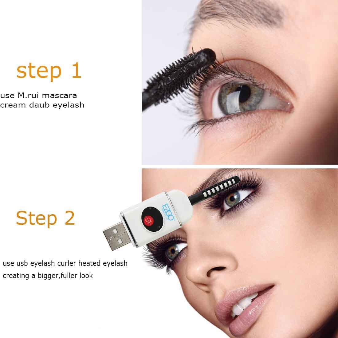 how to use eyelash curler. ezgo professional usb portable eyelash curler,mini rechargeable heating rod, beauty heated eye lashes crimper tools(white): amazon.co.uk: how to use curler