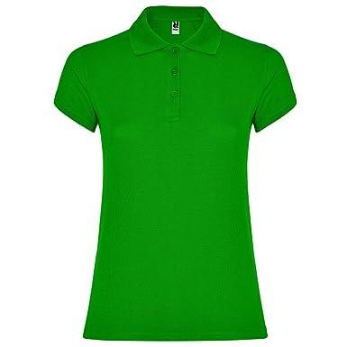 Polo Verde para Mujer, 100% Algodón, Star: Amazon.es: Ropa y ...