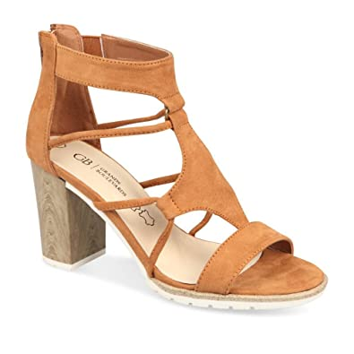 cee3bdba134 Sandales MARRON GRANDS BOULEVARDS Femme Chaussea  Amazon.fr ...