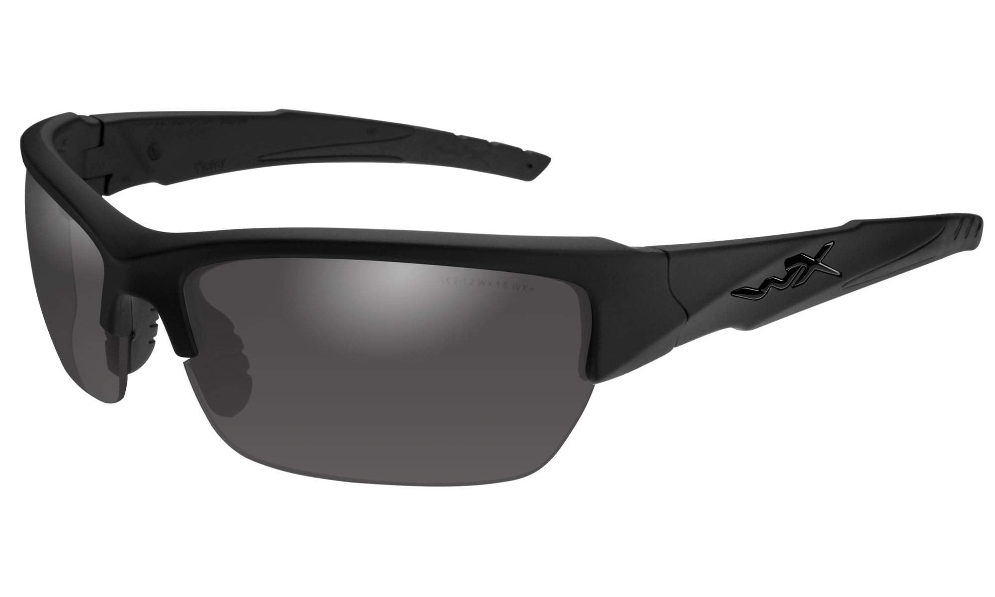 Wiley X Valor Sunglasses (Smoke Grey Lens, Matte Black Frame) by Wiley X