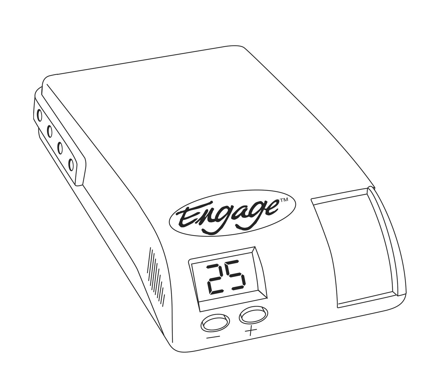 Hayes 81760 Engage Digital Time Based Brake Controller Hayes Towing Electronics