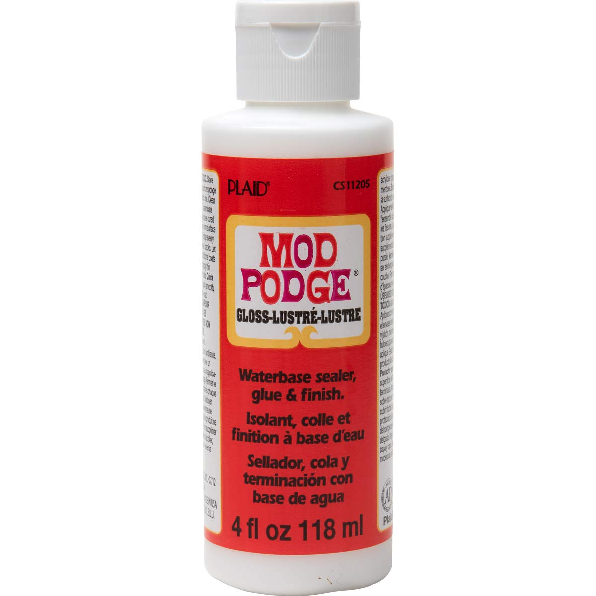 Mod Podge PLCS11205 11359 Gloss 4Oz Squeeze Bottle, 4 oz, 4 Fl Oz