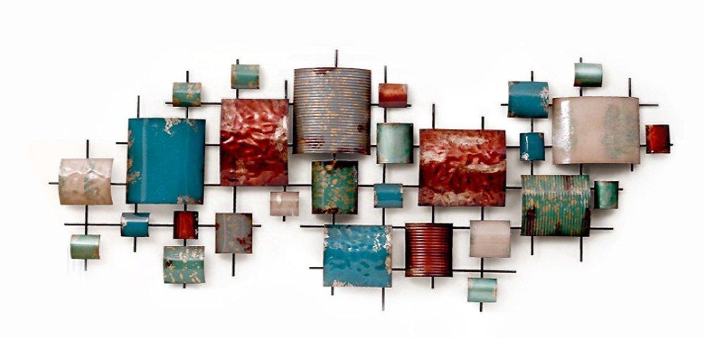 GoedYE 3D Metall Wand Skulpturen Art Decor groß Größe Geometrische Bilder