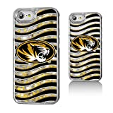 Keyscaper NCAA Missouri Tigers MU Wave Glitter Case, iPhone 8/7/6, Clear