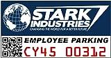 Stark Industries Employee Parking Window Cling Decal
