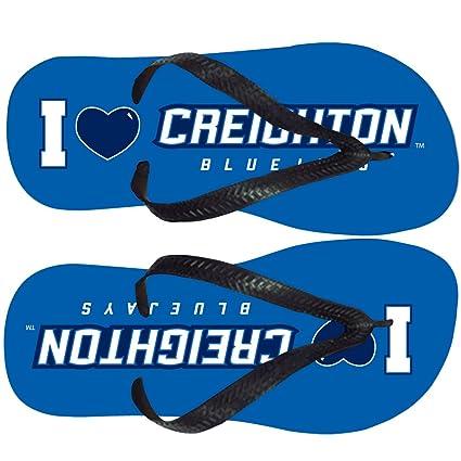 amazon com creighton university flip flop i love creighton