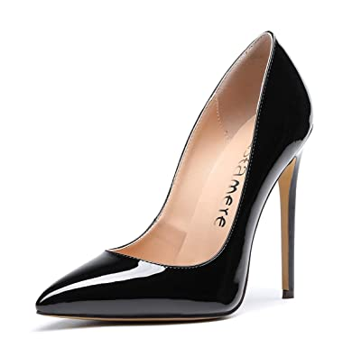 8aab73dd6a3a5 Amazon.com   CASTAMERE Women's High Heels Slip On Pumps Pointy Toe ...