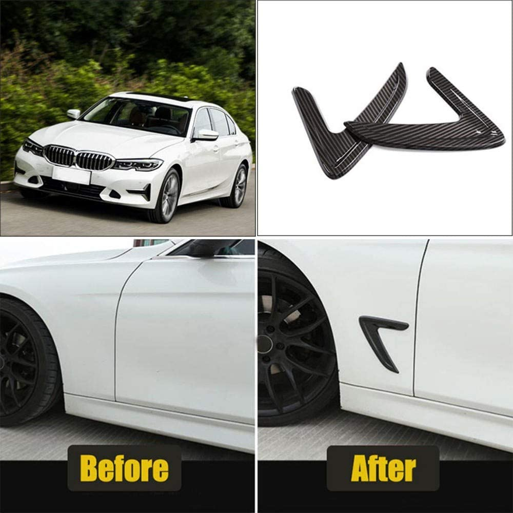 F/ür BMW F30 G20 316i 320i 325i 328i 335i 2012-2020 XLTWKK Autozubeh/ör Fender Air Vents Dekoration Abdeckung Verkleidung Aufkleber