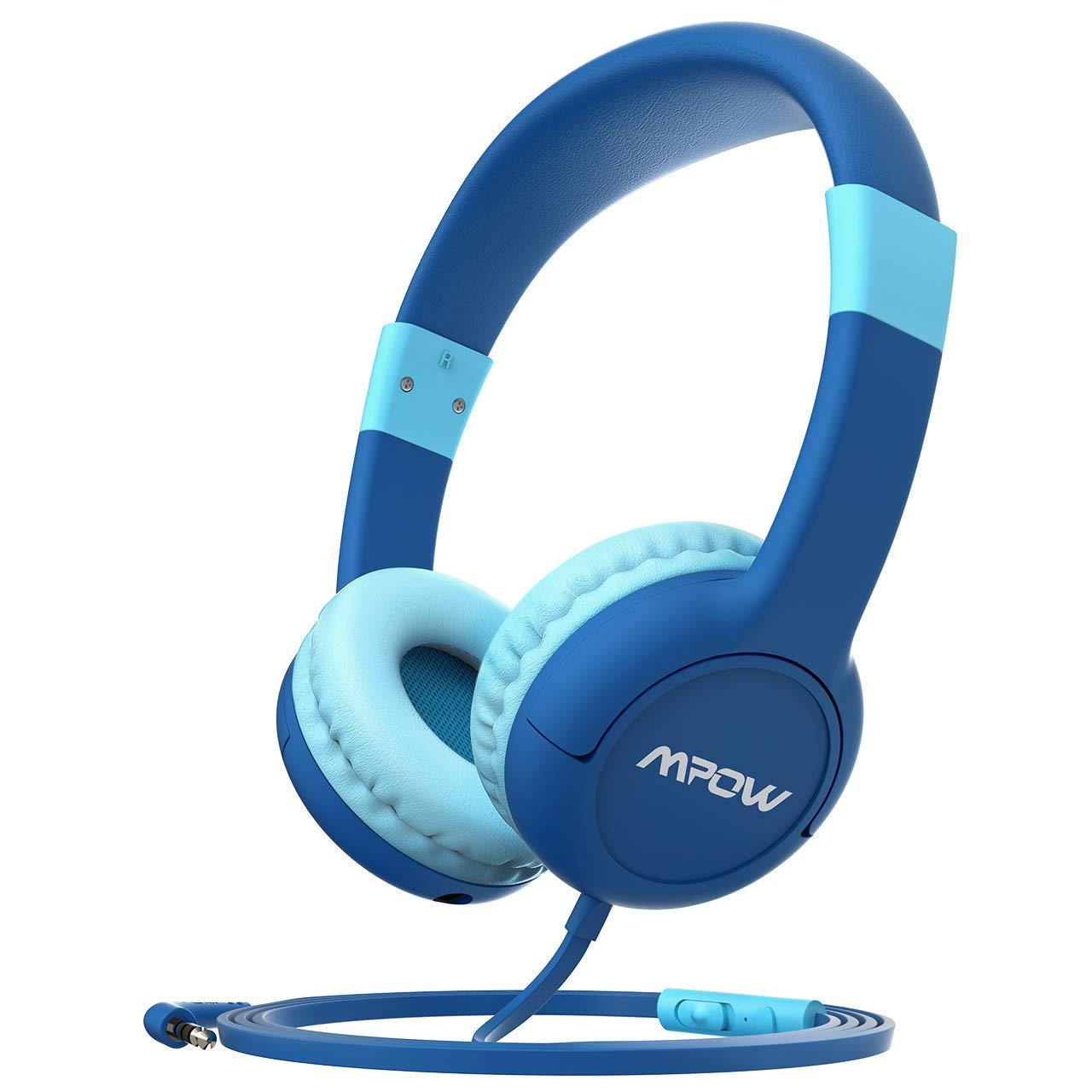 Kids Headphones, Mpow CH1S Mic & Volume Control 85dB Limiting Headset Sharing Music Headphone Children Kid On-Ear…