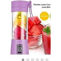Hope Smile Portable USB Electric Juicer, Blender Drink Bottle,380Ml Juicer Cup with inbuilt 2000 Mah Power Bank