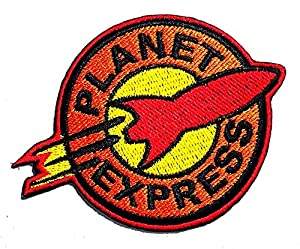 Futurama Planet Express cartoon 3 x 3.7 inches Jacket T- shirt Patch Sew Iron on Embroidered Badge Sign Costum