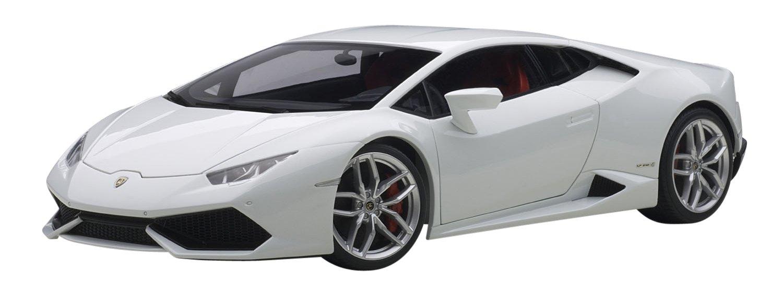 【セット商品】 AUTOart 1/18 ランボルギーニ ウラカン LP610-4 メタリックホワイト + ディスプレイケース B01LXHP8QN ディスプレイケースセット