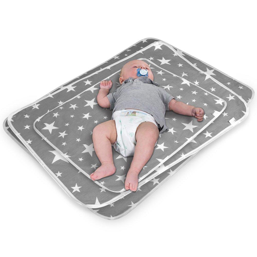 M - 50 x 70 cm 2 St/ück Atmungsaktiv 2 St/ück Wasserdicht Wickelunterlage f/ür Babys und Kleinkinder Waschbar Wiederverwendbare Urin Matte Abdeckung