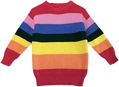 : iFOMO Children's Long Sleeve Knit Rainbow