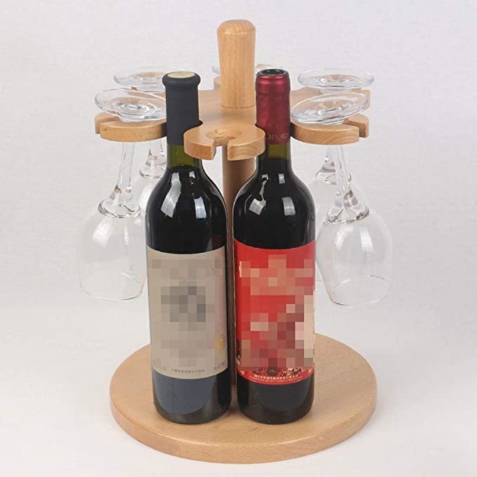 Decoración De Racks De Vino De Madera Maciza Europea Botella De ...