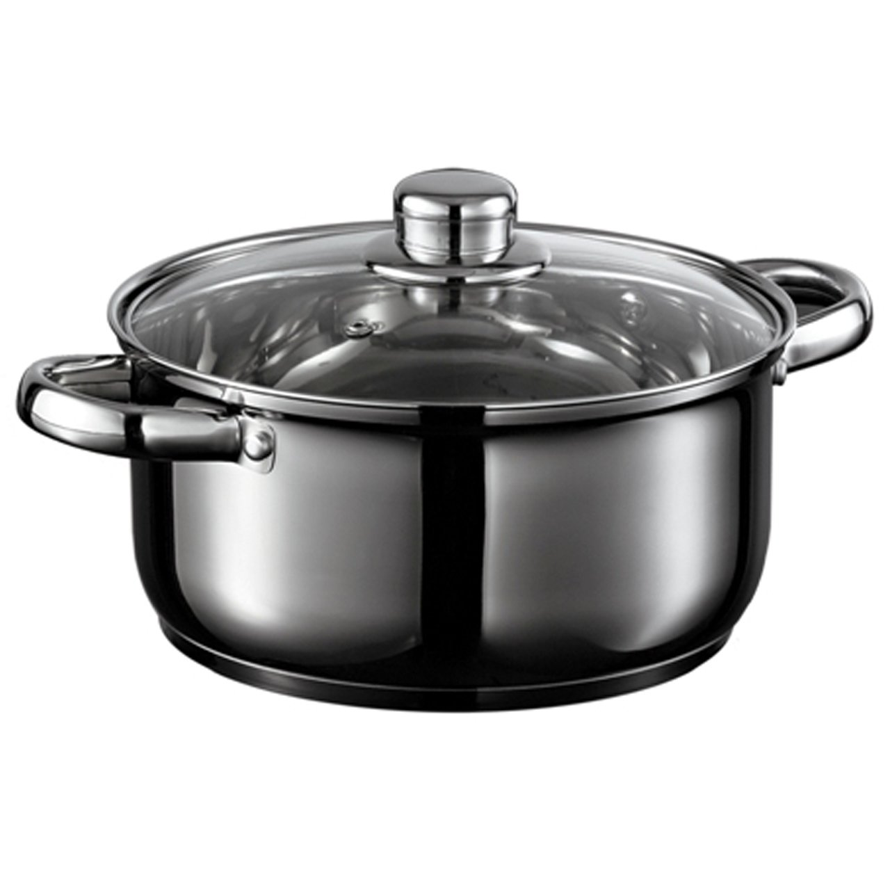 Starfrit 031074 Everyday Basix Stock Pot with Lid, 4.5-Quart, Stainless Steel, Metallic