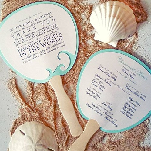 Program Fan, Beach Wedding Program, Destination Wedding, Wedding, Beach wedding, Ocean Wedding, Fan, Program, Wedding, Wedding Thank you