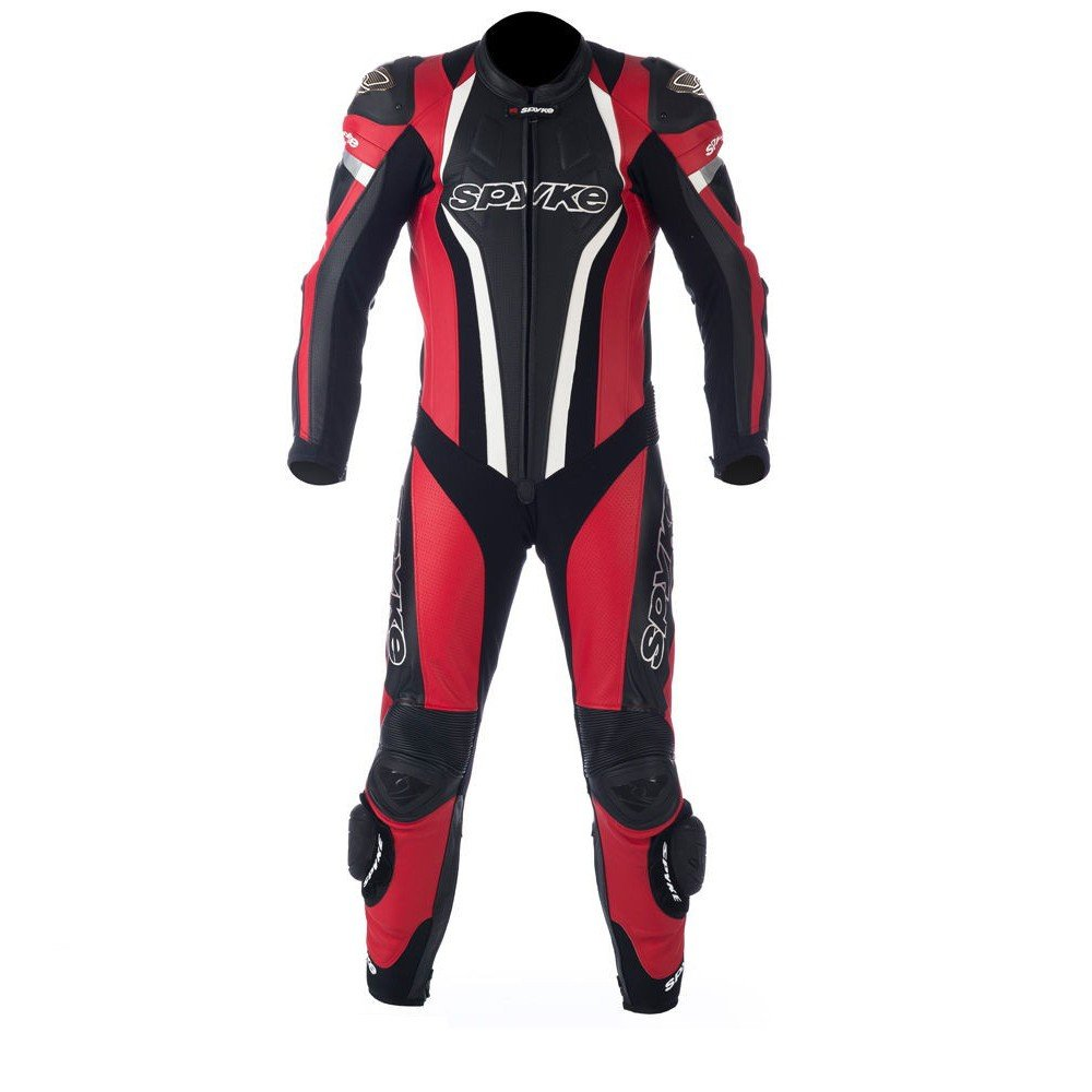 Spyke TOP SPORT MIX KANGAROO Leather Motorcycle Racing Suits for Men Red/Black/White US XS/46 EU