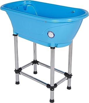 Beautiful Flying Pig Pet Dog Cat Washing Shower Grooming Portable Bath Tub (Blue,  37.25u0026quot;