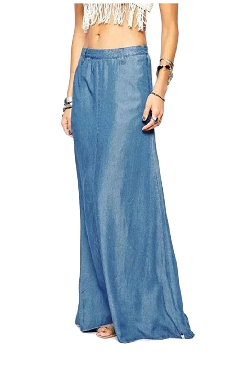 35213218e Very Long Denim Skirts