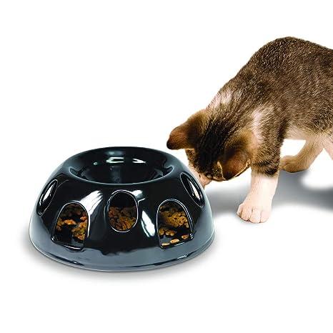 Smart Cat Pioneer Mascota Tigre el Diner – Alimentos de cerámica/Cuenco, Negro