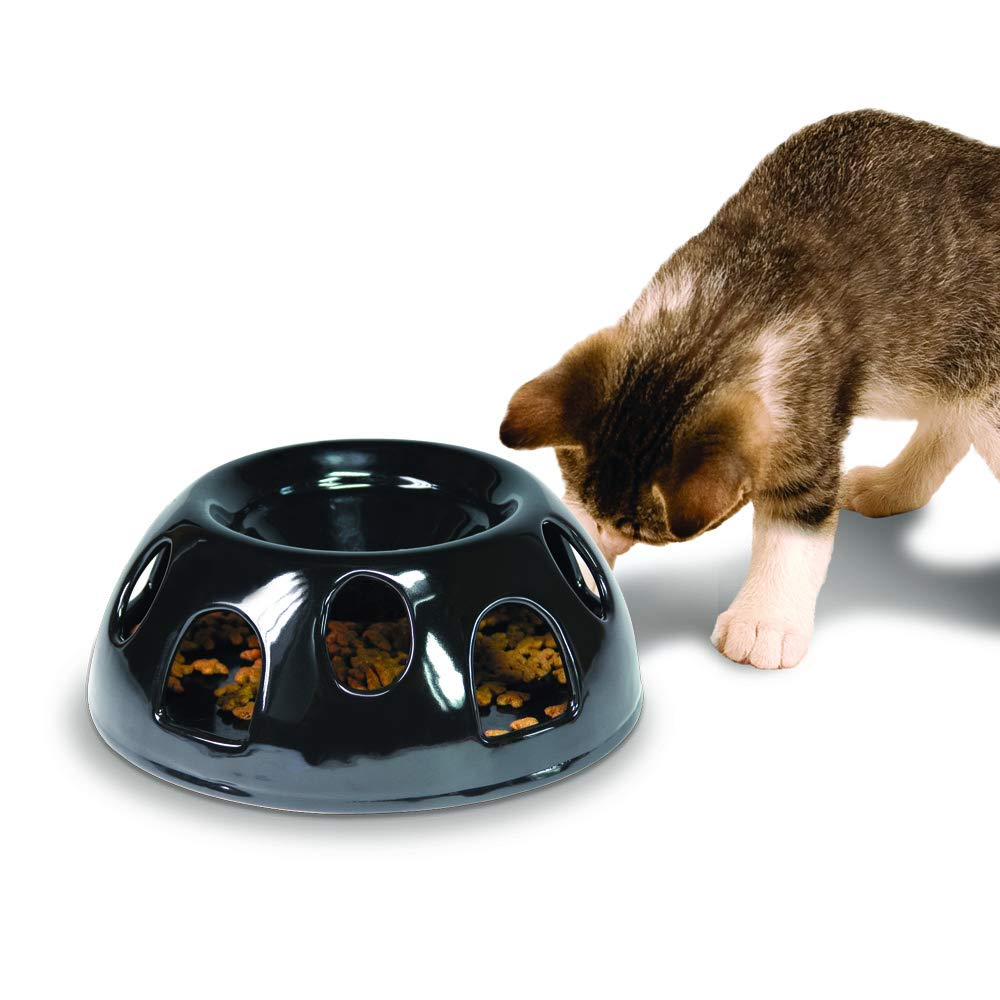 Pioneer Pet Tiger Diner Ceramic Food Dish/Bowl, Black