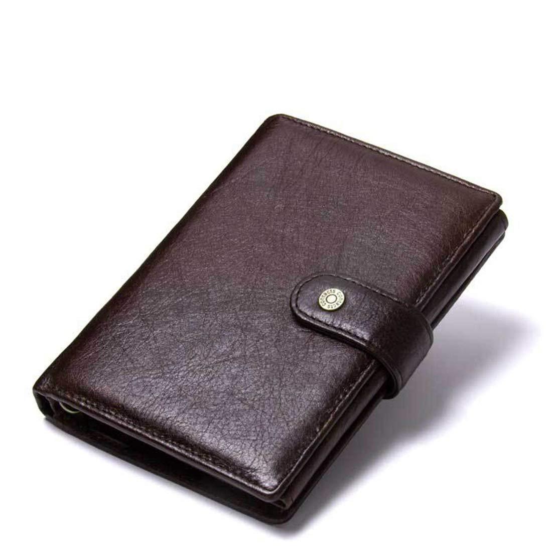Haxibkena Herrenbrieftasche Leder Multifunktionale Schnalle Leder Brieftasche Passporttasche (Farbe   Coffee Farbe) B07MDP9T4J Geldbrsen