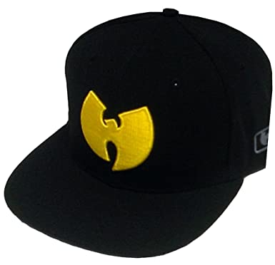 Amazon.com  Wu-Wear Wu Symbol Logo Snapback Cap Wu-Tang Clan Black ... 8170d105594