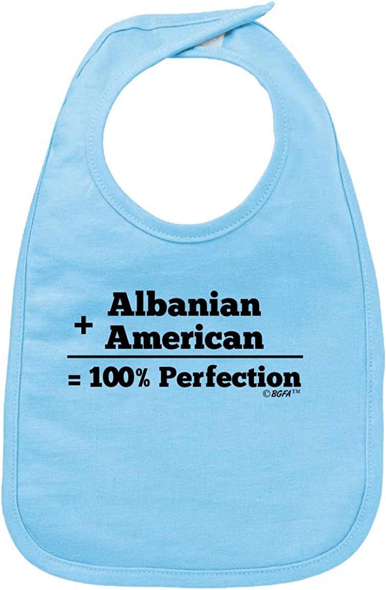 Custom Baby Bibs Burp Cloths I Love My Albanian Grandparents Cotton Baby Items for Baby Girl /& Boy White Black Design Only