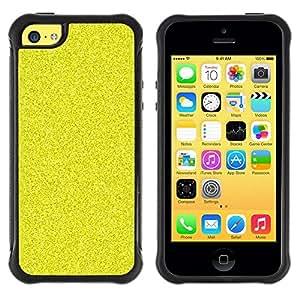 LASTONE PHONE CASE / Suave Silicona Caso Carcasa de Caucho Funda para Apple Iphone 5C / Pattern Grain Bling Rich Yellow