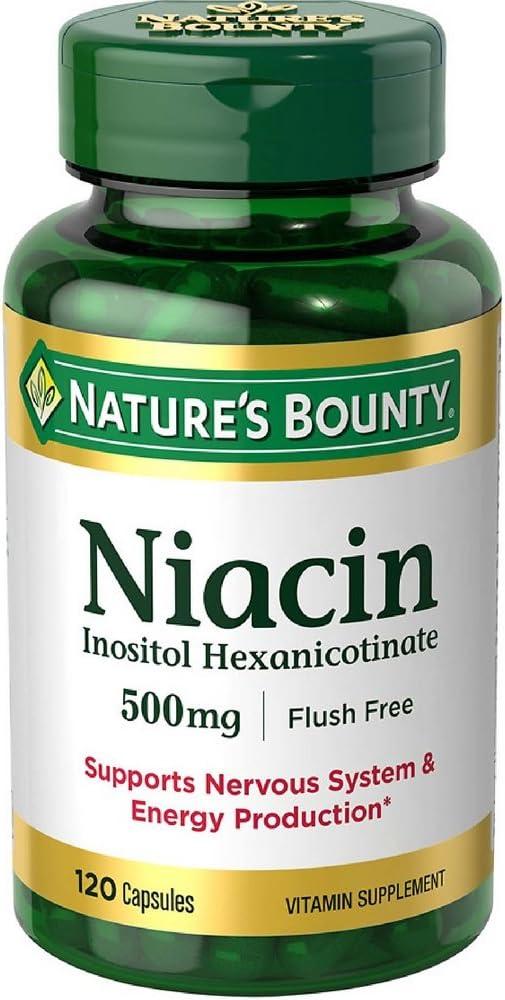 Nature s Bounty Niacin 500 mg capsules 120 ea Pack of 2