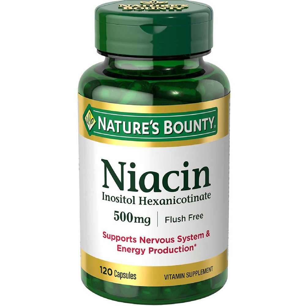 Nature s Bounty Niacin 500 mg capsules 120 ea Pack of 4