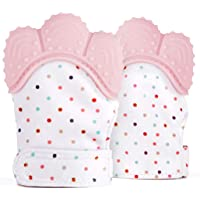Yinroom Baby-Zahnen-Handschuh-Kleinkind-Silikon-Beißring-Spielzeug BPA-freier Nahrungsmittelgrad-Beißring-beruhigende Schmerzlinderung Baby-Handschuhe schützt Babys Hände vor Salvia und Kauen