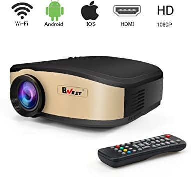 Proyector de video WiFi, Proyector de cine en casa LED Mini ...