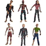 HAPTIME Set of 6 Zombie Toys Action Figures Toys Terror Corpse