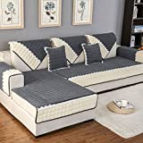 OstepDecor Multi-size Rectangular Quilted Furniture Protector and Slipcover for Pets, Kids, Dogs - Sofa, Loveseat, Recliner and Chair | Dark Grey 43''W x 70''L (110 x 180cm)