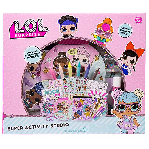 L.O.L. Surprise! Super Activity Set Studio by Horizon Group USA, Sketch & Create with Stickers & Gemstones, Multicolor