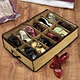 House Hold 12 Pair Shoes Storage Organizer Holder Shoe Bag Box Under Bed Closet Canvas