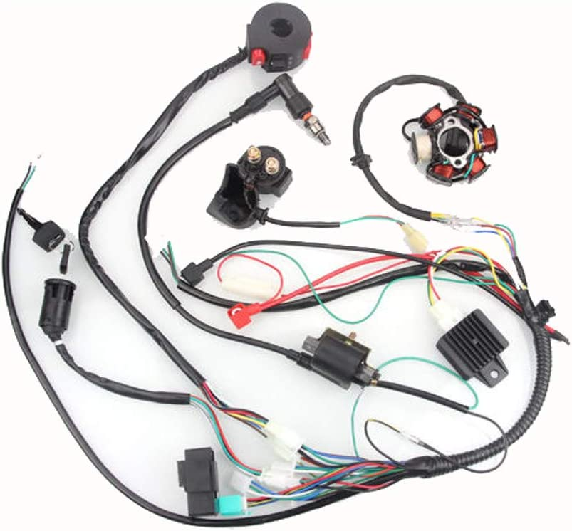Amazon.com: NeDonald 50CC-125CC Mini ATV Complete Wiring Harness CDI STATOR  6 Coil Pole Ignition Electric: Home & KitchenAmazon.com
