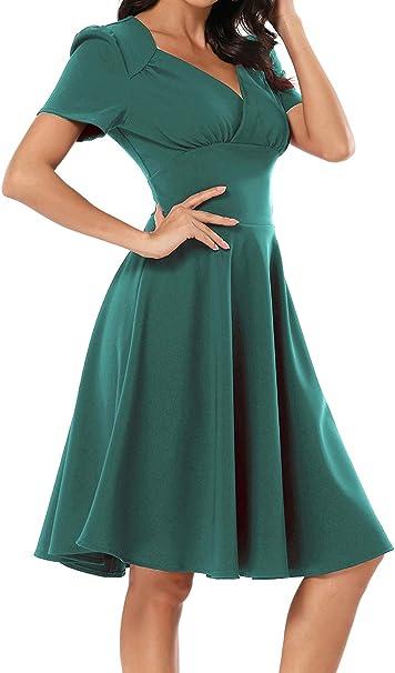 Laorchid Marilyn Monroe damska sukienka koktajlowa z dekoltem w kształcie litery V, elegancka sukienka biznesowa w stylu vintage: Odzież