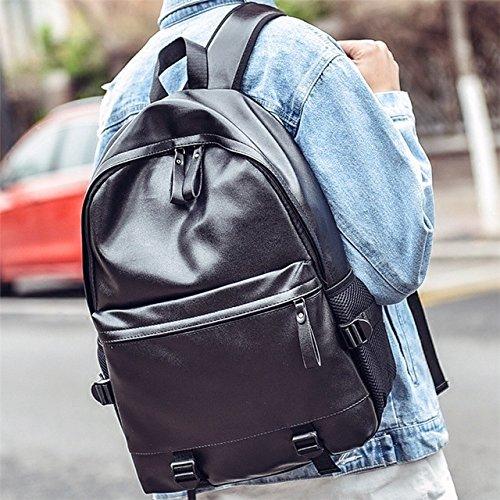 Moda Doble Backpacker PU De Bolso Hombro Estudiante Bolsa Meoaeo Ocio xX0wqZf