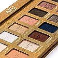AFU High Pigmented Eyeshadow Palette Matte + Shimmer 16 Colors Makeup Natural Bronze Neutral Smokey Blendable Waterproof Eye Shadows Cosmetic