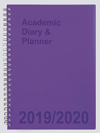Agenda escolar 2019-2020 A5 Semana a Vista, espiral púrpura ...